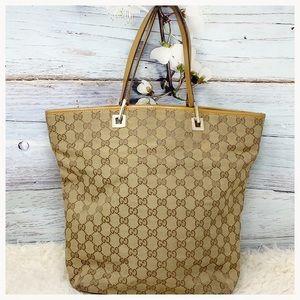 635764e6f75 ... Authentic Gucci GG Monogram Tote Bag ...
